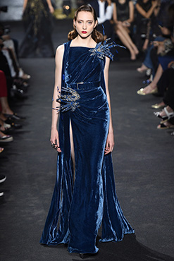 Elie-Saab-Couture-Fall-2016-blue-velvet-dress