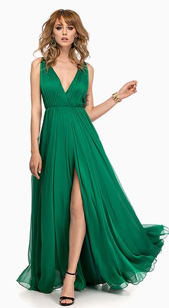 rochie de banchet verde