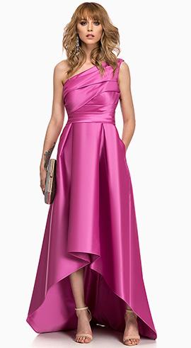 rochie de banchet asimetrica