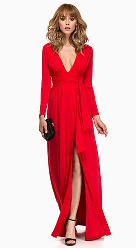rochie de banchet lunga rosie